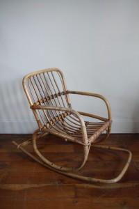 rocking chair rotin Rouge Garden