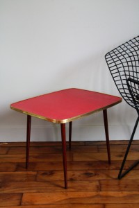 table basse Formica Rouge Garden