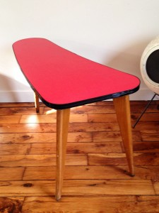 table basse Formica rouge Rouge Garden