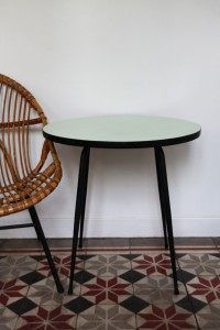 table basse ronde Formica Rouge Garden
