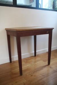 table en bois bureau années 50 Rouge Garden