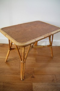 table rotin vintage Rouge Garden