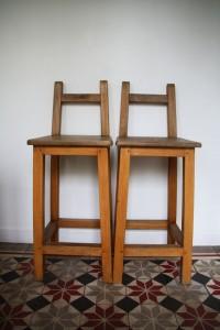 tabouret chaise de bar Rouge Garden