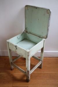 tabouret de cireur années 50 60 mobilier vintage Rouge Garden