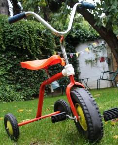 tricycle 1970 jouet vintage Rouge Garden