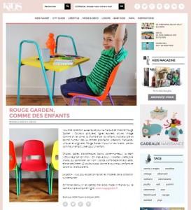 Rouge Garden Kokette Nomad Kiosk Koufl mobilier vintage enfants école dans Kids Magazine