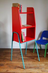 KIOSK bibliothèque enfant Rouge Garden