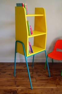 bibliothèque Kiosk jaune de Rouge Garden