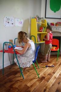 Bureau table enfant vintage enfant Kiosk Nomad Kokette Rouge Garden